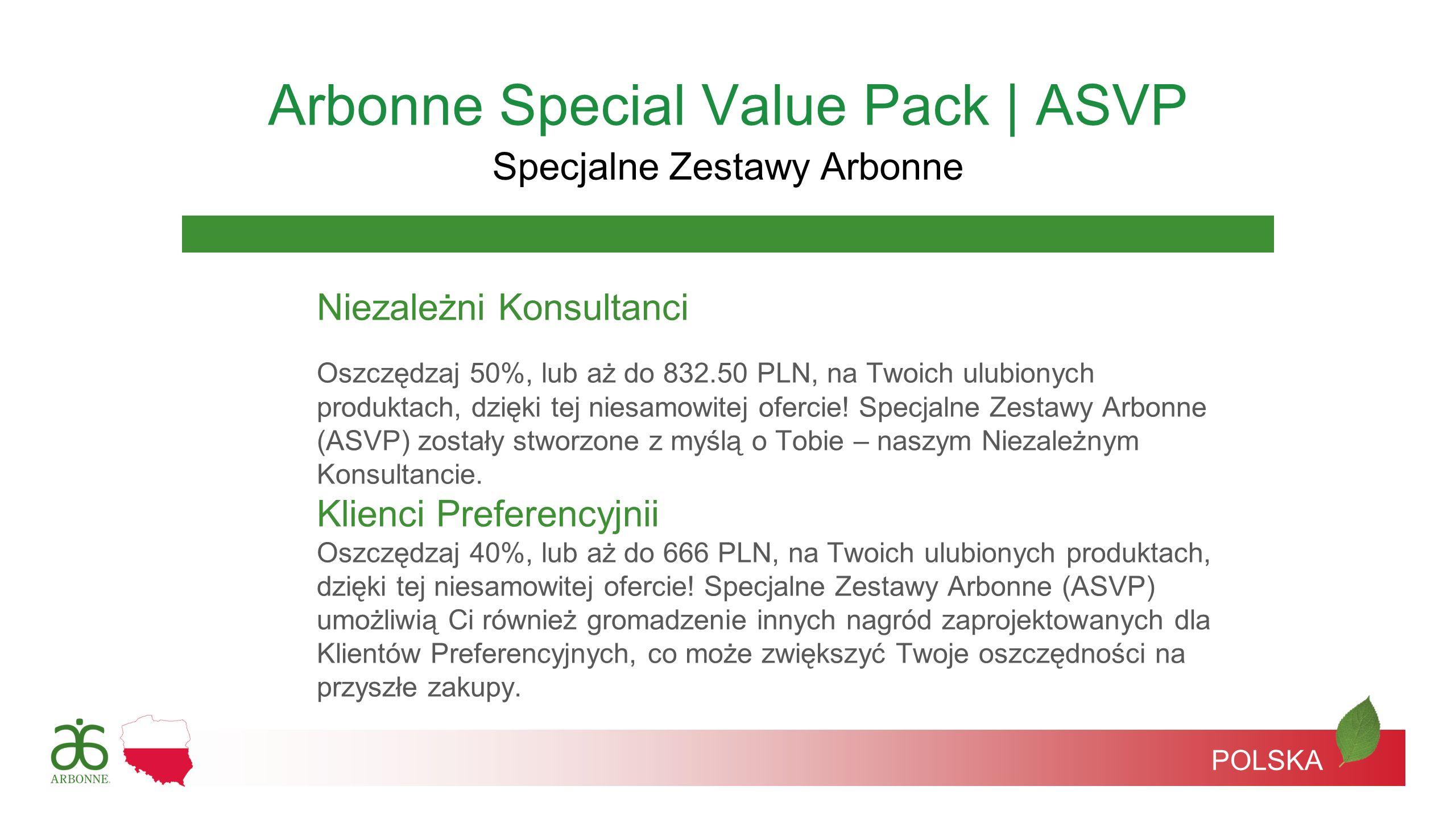 Niezależni Konsultanci Oszczędzaj 50%, lub aż do 832.50 PLN, na Twoich ulubionych produktach, dzięki tej niesamowitej ofercie! Specjalne Zestawy Arbon