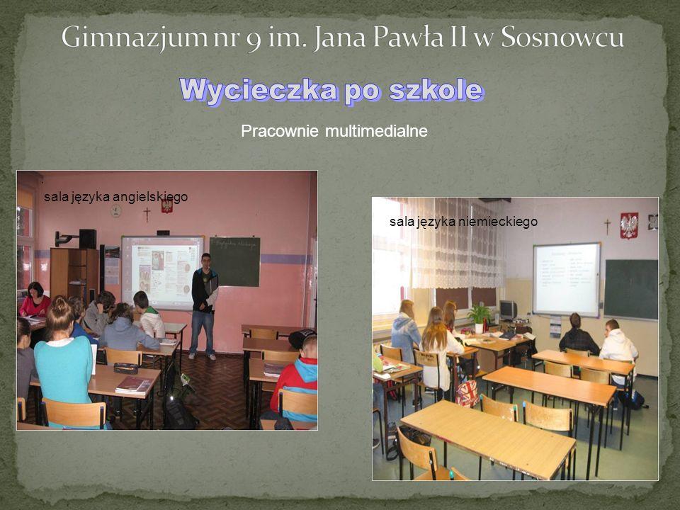 Pracownie multimedialne sala języka angielskiego sala języka niemieckiego