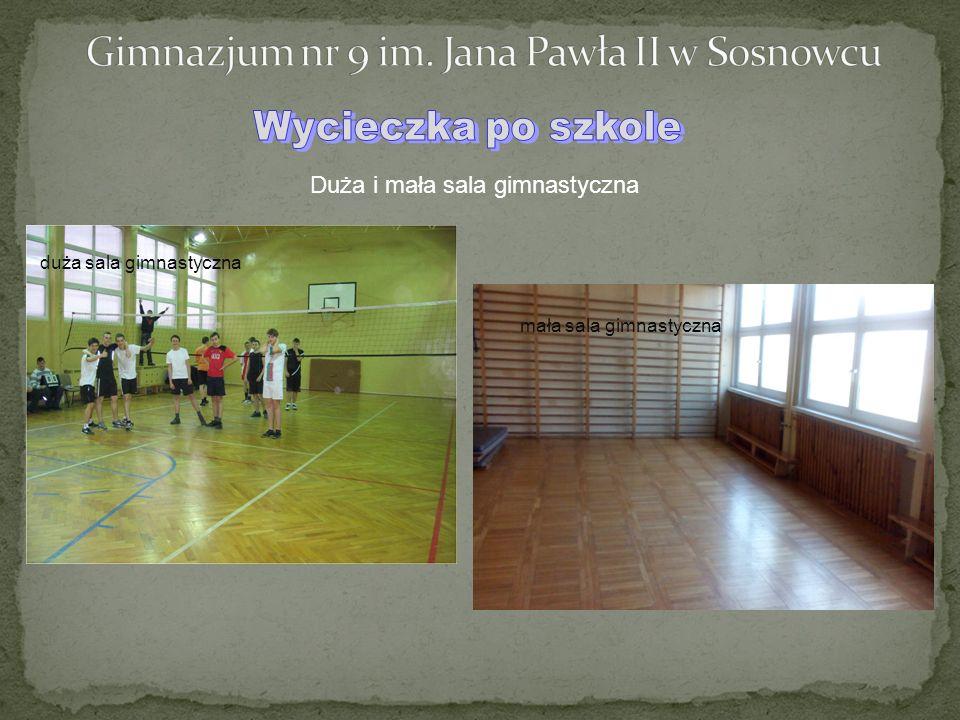 Duża i mała sala gimnastyczna duża sala gimnastyczna mała sala gimnastyczna