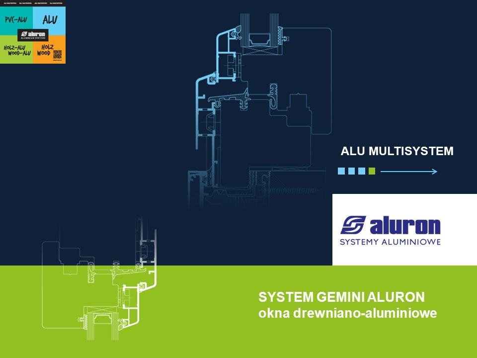 SYSTEM GEMINI ALURON okna drewniano-aluminiowe ALU MULTISYSTEM