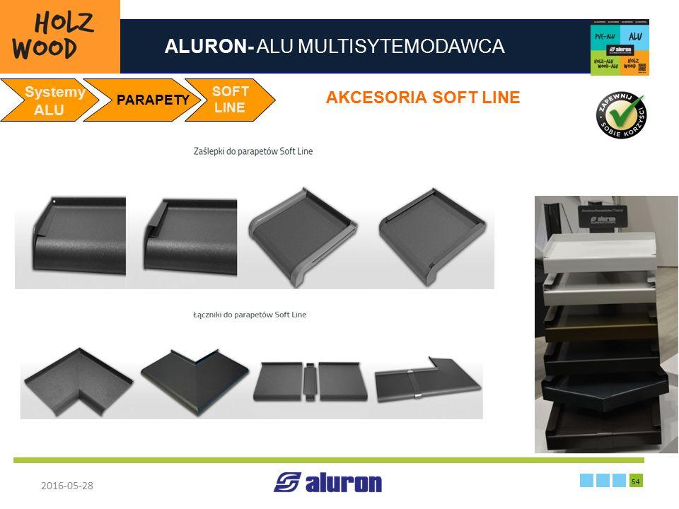 ALURON- ALU MULTISYTEMODAWCA 2016-05-28 54 Zakład produkcyjny w Zawierciu Francja Systemy ALU PARAPETY SOFT LINE AKCESORIA SOFT LINE SOFT LINE