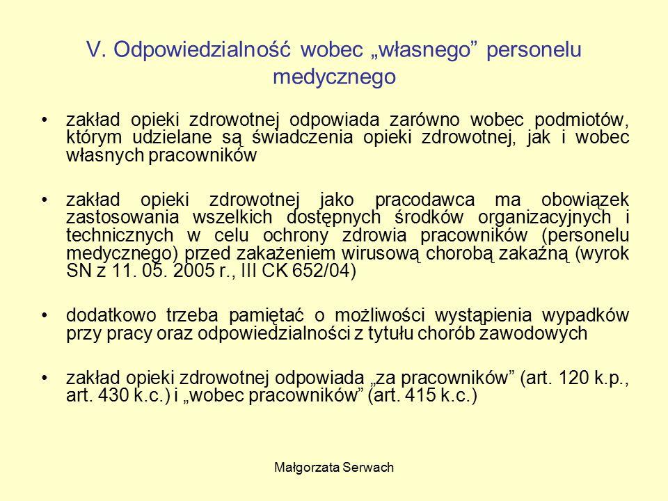 Małgorzata Serwach V.