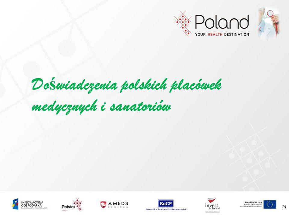Do ś wiadczenia polskich placówek medycznych i sanatoriów 14