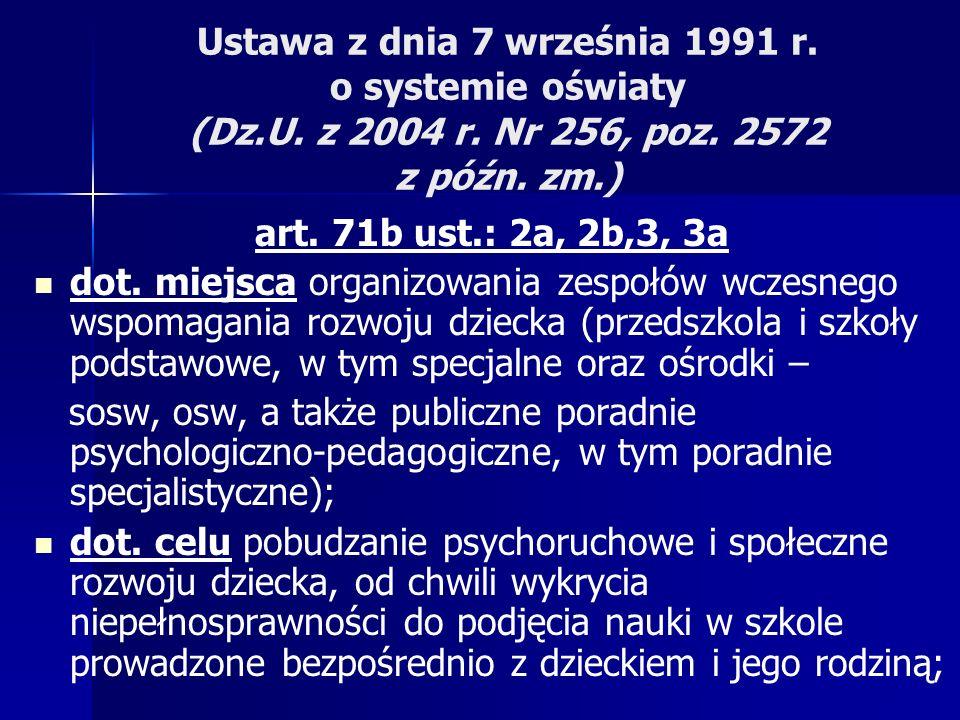 Ustawa z dnia 7 września 1991 r.o systemie oświaty (Dz.U.