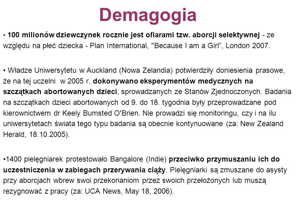 Demagogia 100 milionów dziewczynek rocznie jest ofiarami tzw.
