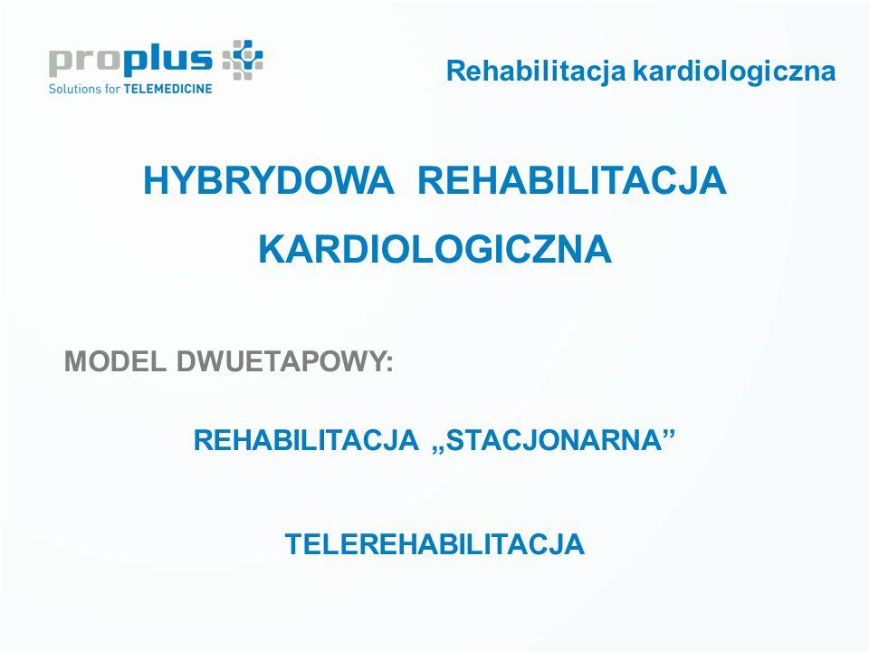 """HYBRYDOWA REHABILITACJA KARDIOLOGICZNA MODEL DWUETAPOWY: REHABILITACJA """"STACJONARNA"""" TELEREHABILITACJA Rehabilitacja kardiologiczna"""