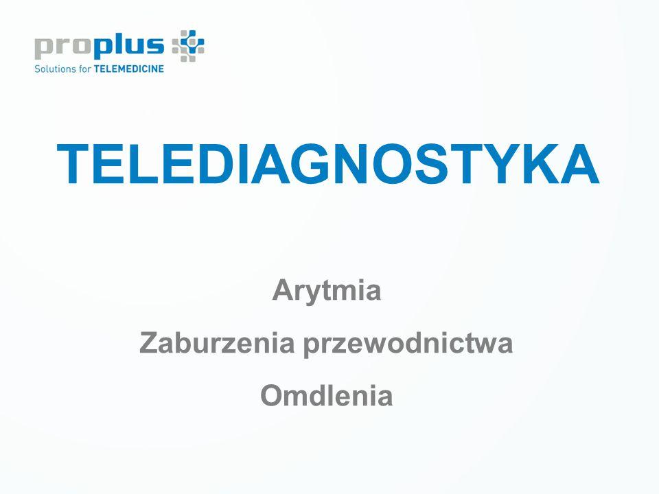 Prewencja wtórna LECZENIE CUKRZYCY Tele-monitoring krótkoterminowy TELEDIAGNOSTYKA Arytmia Zaburzenia przewodnictwa Omdlenia