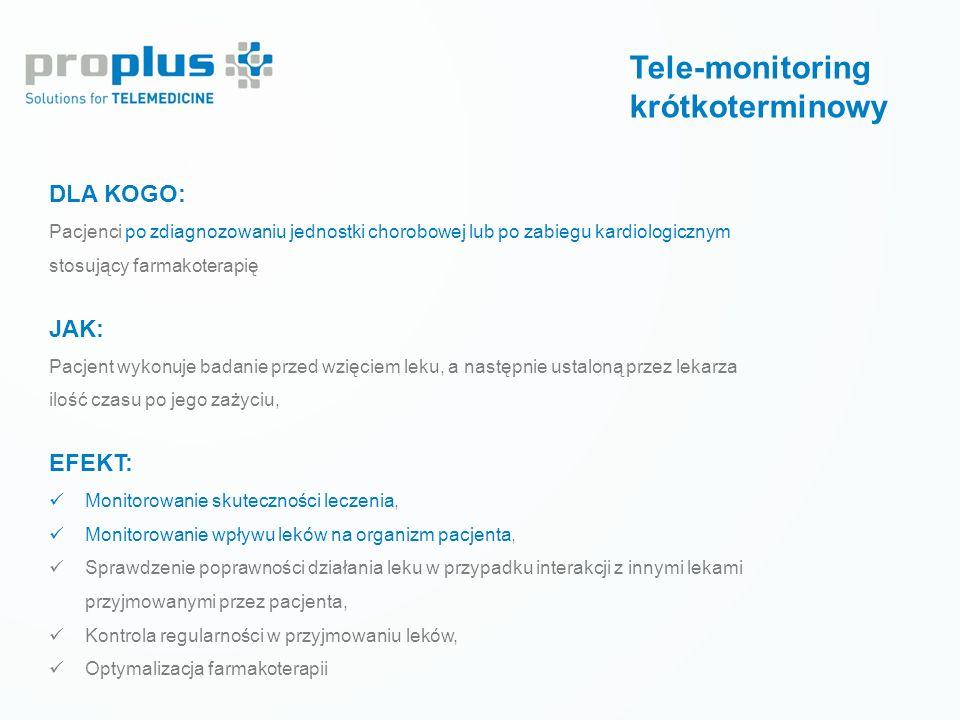 Prewencja wtórna LECZENIE CUKRZYCY Tele-monitoring krótkoterminowy DLA KOGO: Pacjenci po zdiagnozowaniu jednostki chorobowej lub po zabiegu kardiologi