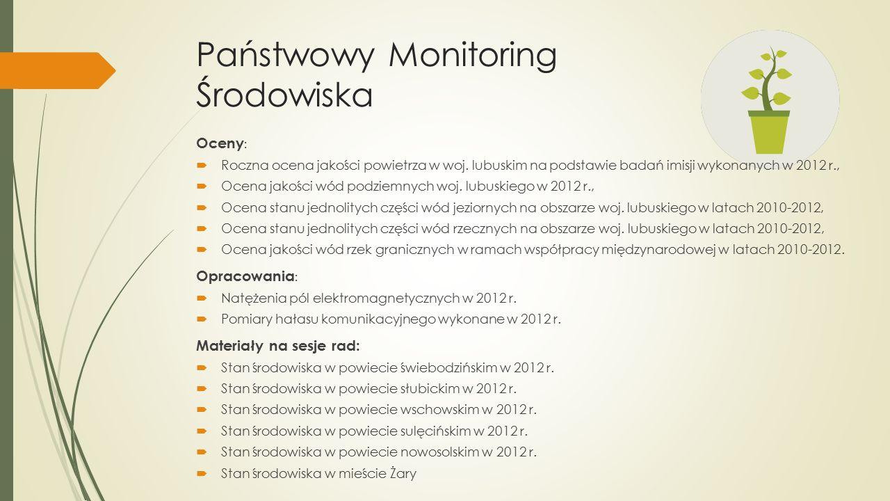 Państwowy Monitoring Środowiska Oceny :  Roczna ocena jakości powietrza w woj.