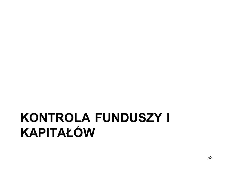 KONTROLA FUNDUSZY I KAPITAŁÓW 53