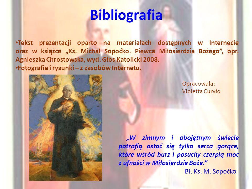 """Bibliografia Tekst prezentacji oparto na materiałach dostępnych w Internecie oraz w książce """"Ks."""