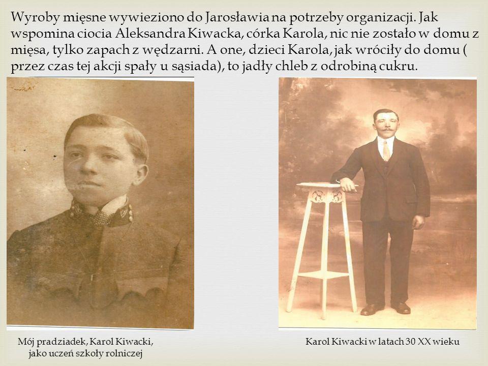 Wyroby mięsne wywieziono do Jarosławia na potrzeby organizacji.