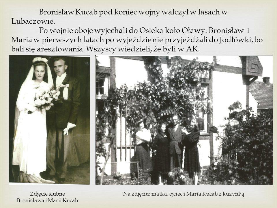 Bronisław Kucab pod koniec wojny walczył w lasach w Lubaczowie.
