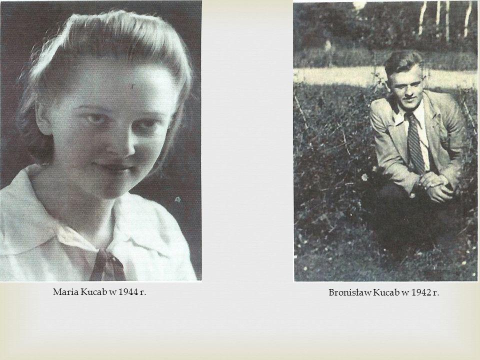 Maria Kucab w 1944 r. Bronisław Kucab w 1942 r.