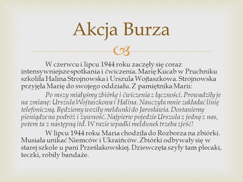23 lipca wyruszyły wszystkie konspiratorki na zbiórkę u Szewcówny.