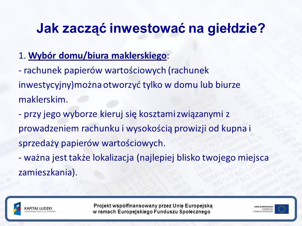 Jak zacząć inwestować na giełdzie. 1.