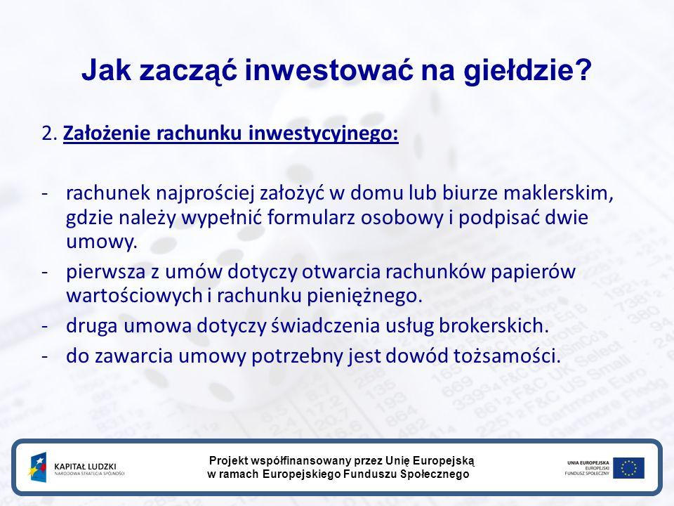 Jak zacząć inwestować na giełdzie. 2.