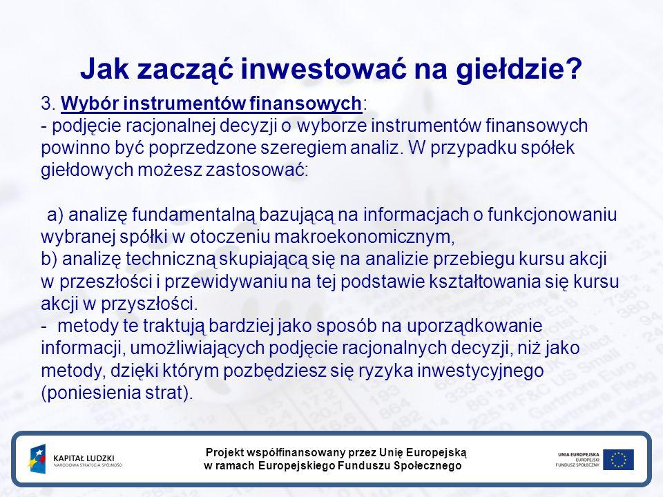 Jak zacząć inwestować na giełdzie. 3.