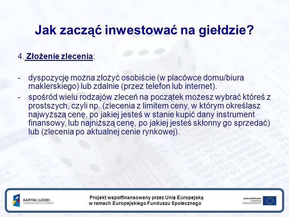Jak zacząć inwestować na giełdzie. 4.