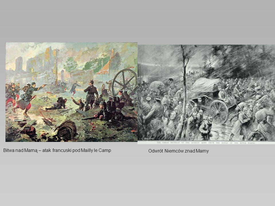Bitwa nad Marną – atak francuski pod Mailly le Camp Odwrót Niemców znad Marny