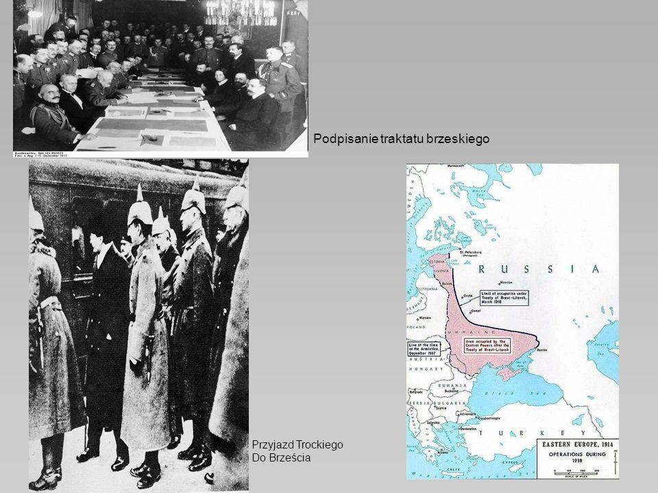 Podpisanie traktatu brzeskiego Przyjazd Trockiego Do Brześcia