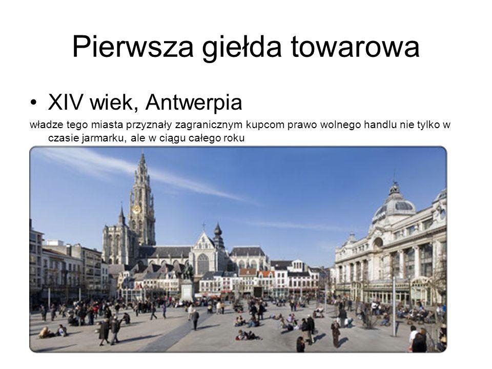 Historia giełdy w Warszawie Pierwsza giełda papierów wartościowych w Polsce otwarta została w Warszawie 12 maja 1817 roku.