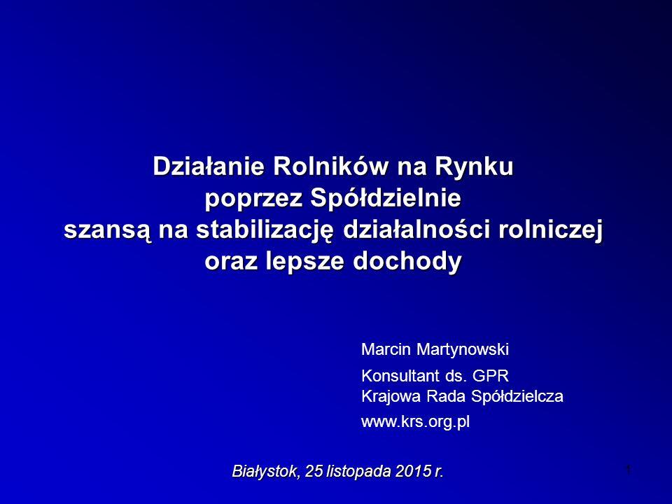 Rys historyczny spółdzielczości rolniczej w Polsce c.d.