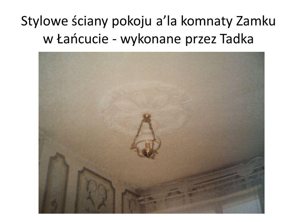 Stylowe ściany pokoju a'la komnaty Zamku w Łańcucie - wykonane przez Tadka