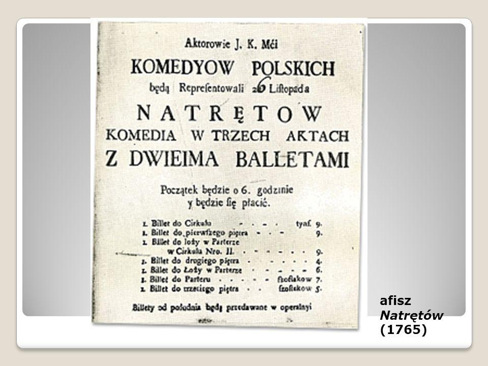 afisz Natrętów (1765)