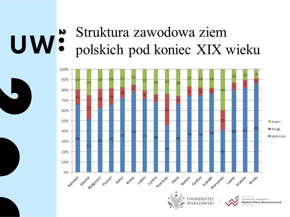 Struktura zawodowa ziem polskich pod koniec XIX wieku