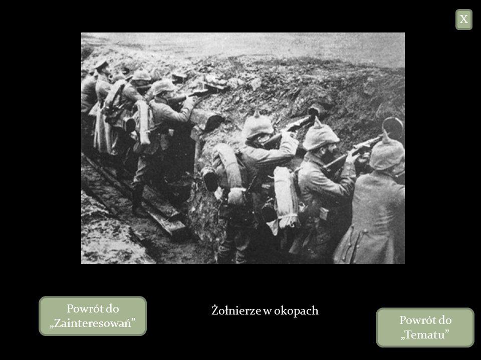 I Wojna Światowa – konflikt zbrojny (28 lipca 1914 – 11 listopada 1918) pomiędzy Ententą, do której należały między innymi Wielka Brytania, Francja, Rosja, Serbia, Japonia, Włochy (od 1915), Stany Zjednoczone (od 1917) a Państwami Centralnymi, tj.