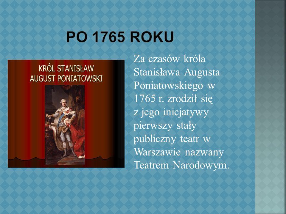 W 1939 r.Niemcy zamknęli wszystkie teatry polskie na okupowanych ziemiach.