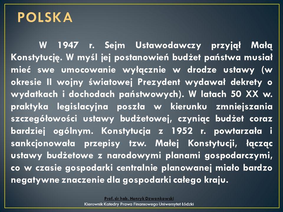 W 1947 r. Sejm Ustawodawczy przyjął Małą Konstytucję.