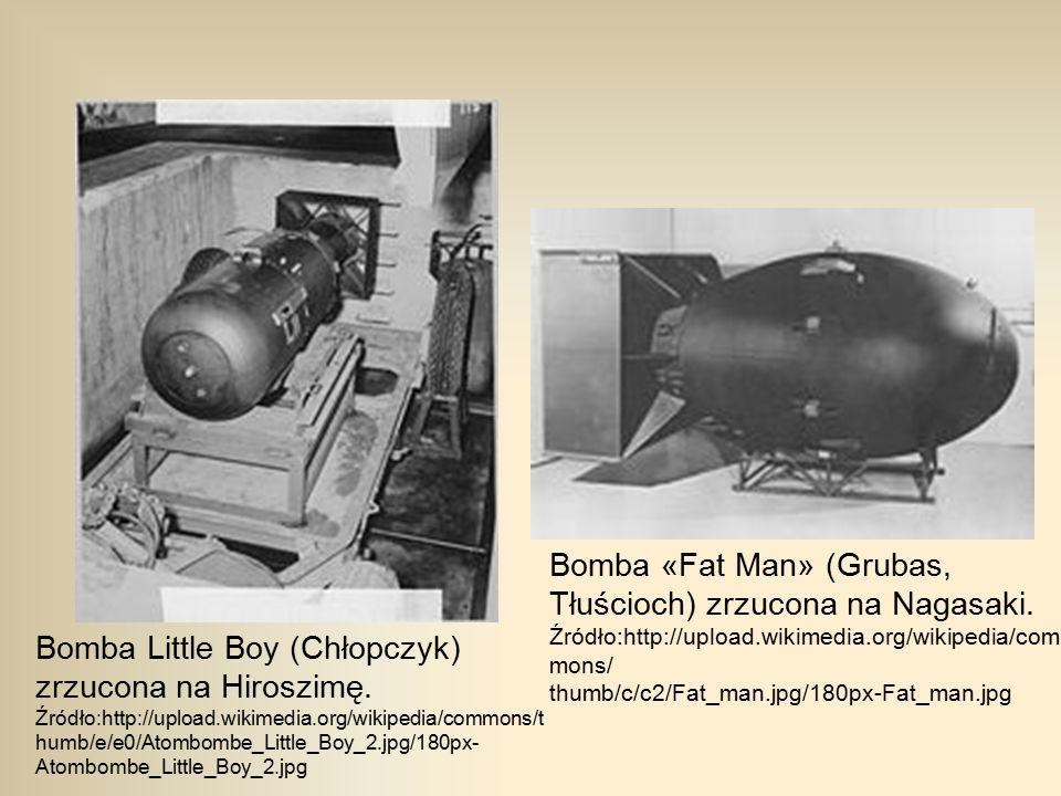 Bomba «Fat Man» (Grubas, Tłuścioch) zrzucona na Nagasaki.