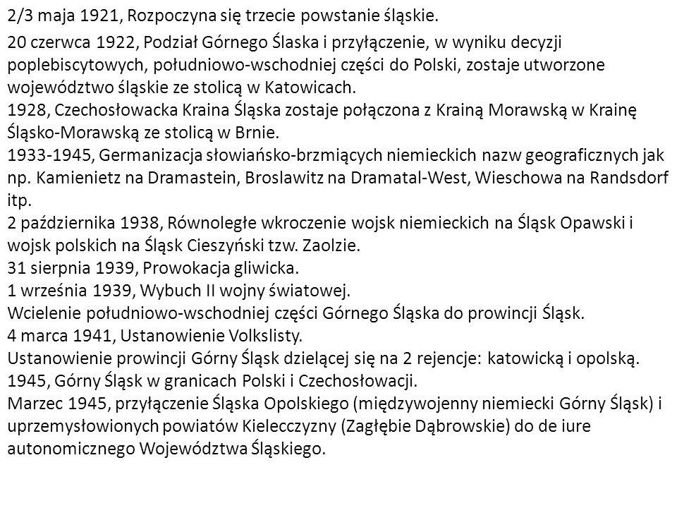 2/3 maja 1921, Rozpoczyna się trzecie powstanie śląskie.