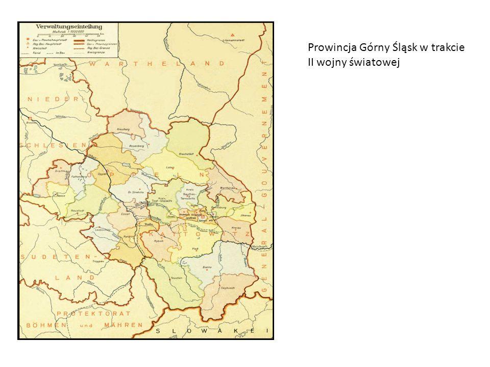 Prowincja Górny Śląsk w trakcie II wojny światowej