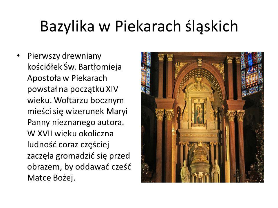 Bazylika w Piekarach śląskich Pierwszy drewniany kościółek Św.