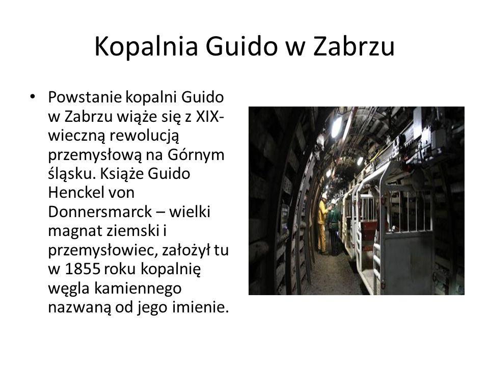 Kopalnia Guido w Zabrzu Powstanie kopalni Guido w Zabrzu wiąże się z XIX- wieczną rewolucją przemysłową na Górnym śląsku.