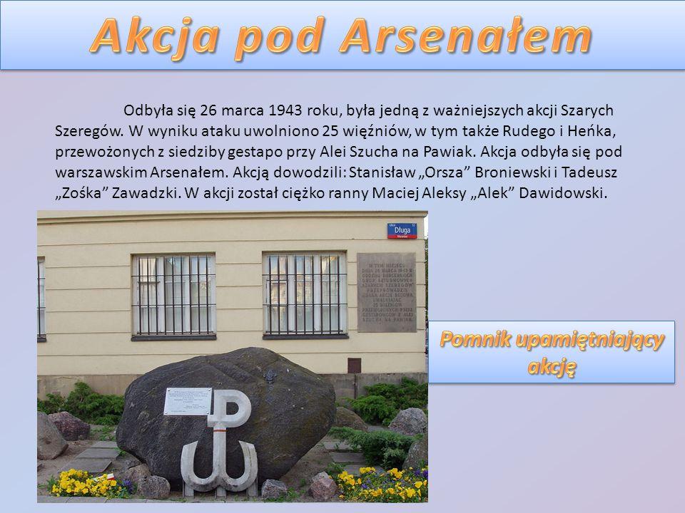 Odbyła się 26 marca 1943 roku, była jedną z ważniejszych akcji Szarych Szeregów. W wyniku ataku uwolniono 25 więźniów, w tym także Rudego i Heńka, prz