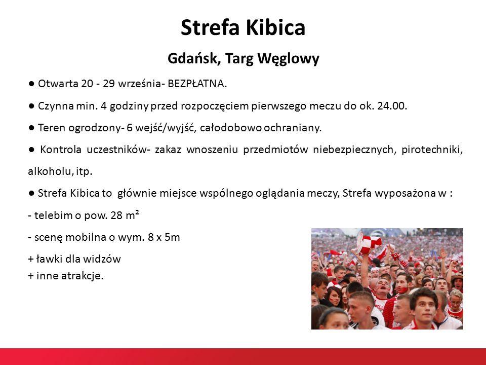 Strefa Kibica Gdańsk, Targ Węglowy ● Otwarta 20 - 29 września- BEZPŁATNA.