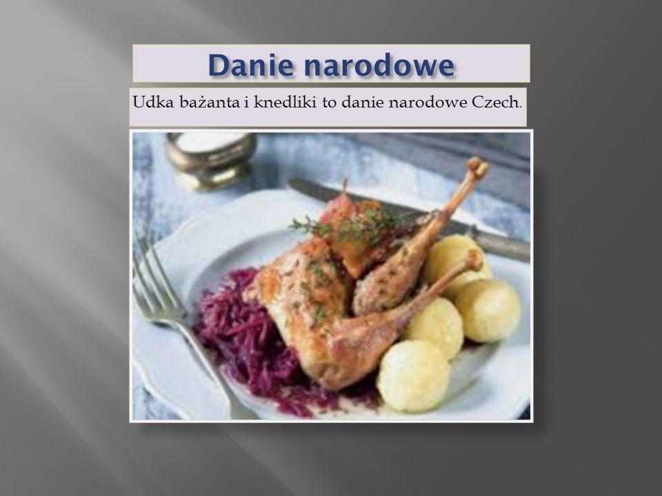 Danie narodowe Udka bażanta i knedliki to danie narodowe Czech.
