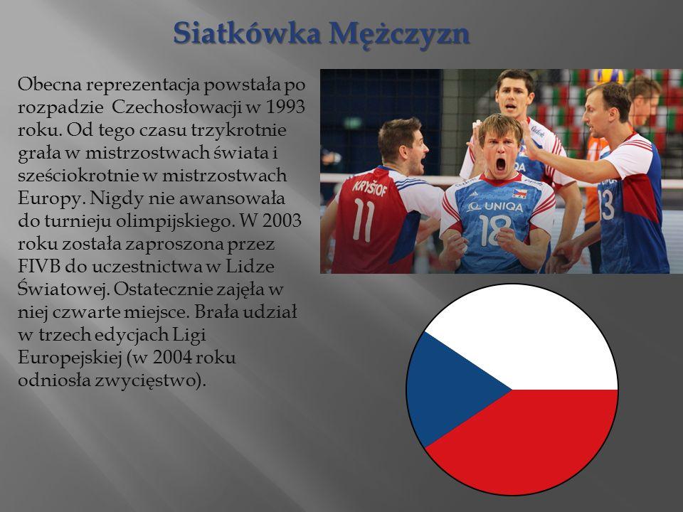 Siatkówka Mężczyzn Obecna reprezentacja powstała po rozpadzie Czechosłowacji w 1993 roku.
