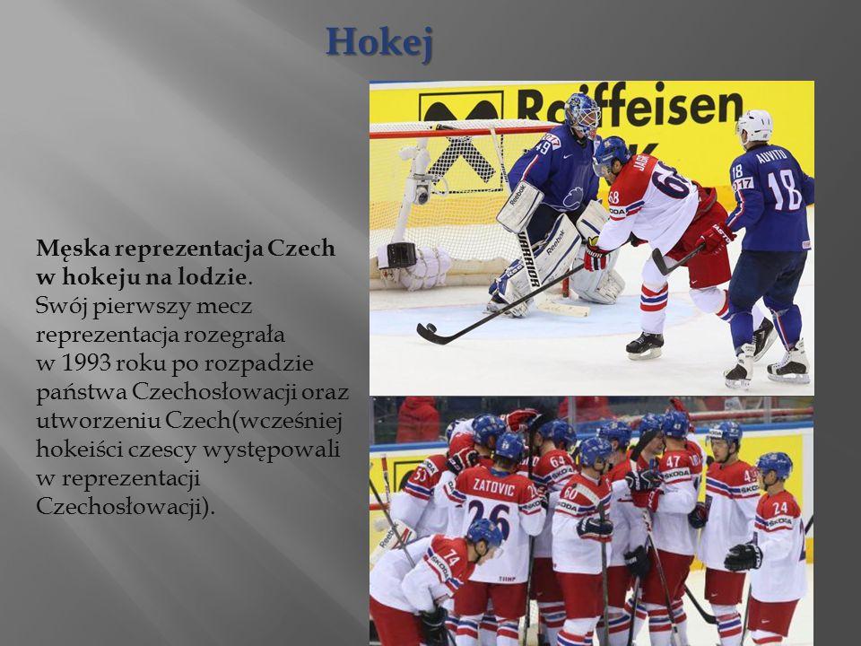Męska reprezentacja Czech w hokeju na lodzie.