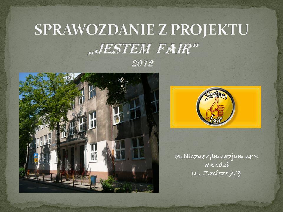 Publiczne Gimnazjum nr 3 w Łodzi Ul. Zacisze 7/9