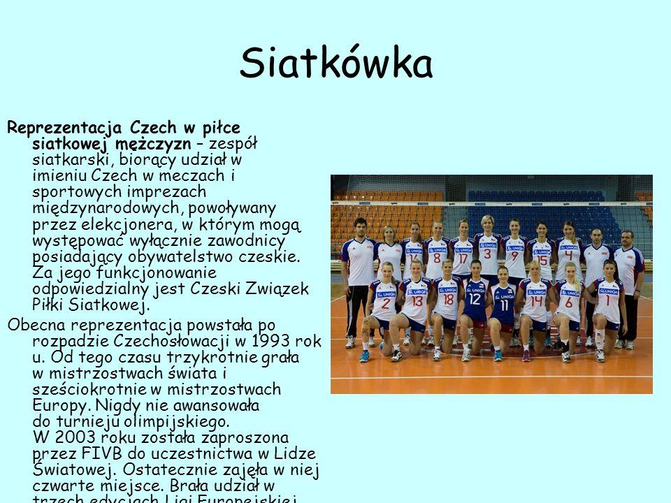 Siatkówka Reprezentacja Czech w piłce siatkowej mężczyzn – zespół siatkarski, biorący udział w imieniu Czech w meczach i sportowych imprezach międzynarodowych, powoływany przez elekcjonera, w którym mogą występować wyłącznie zawodnicy posiadający obywatelstwo czeskie.