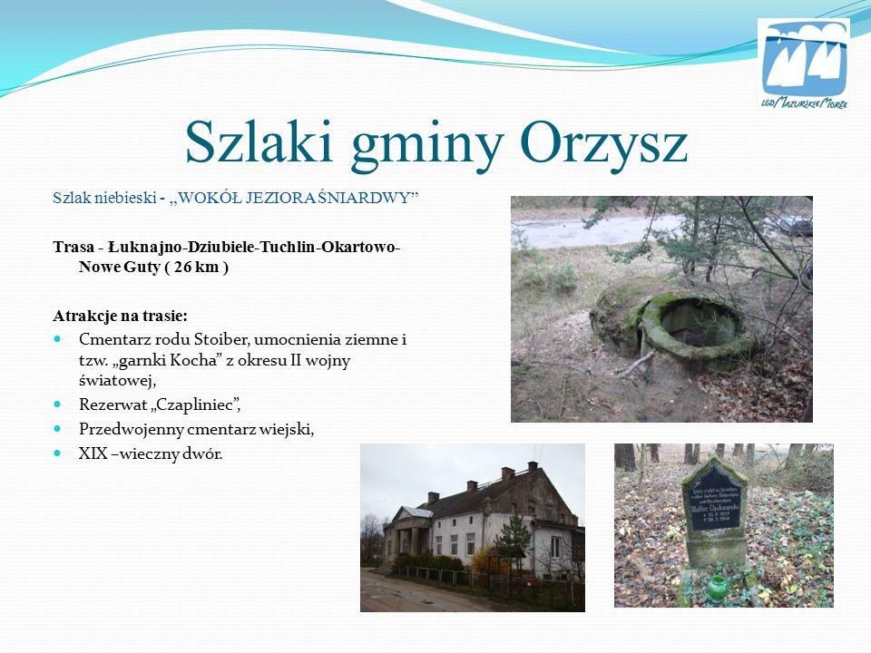 """Informacje w powyższej prezentacji zostały zaczerpnięte z raportu: """"Inwentaryzacja szlaków turystycznych na obszarze LGD Mazurskie Morze ."""