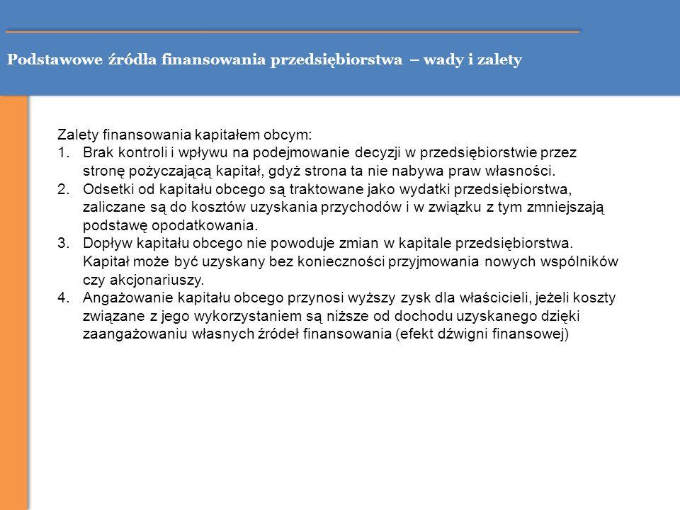 Źródła finansowania MŚP – wyniki badań Źródło: opracowanie własne na podstawie Raport o stanie sektora małych i średnich przedsiębiorstw w Polsce w latach 2006-2007, pod red.