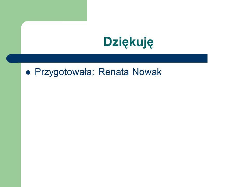 Dziękuję Przygotowała: Renata Nowak