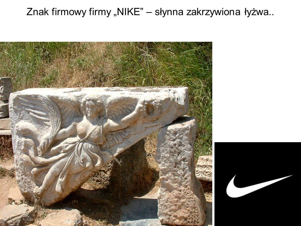 """Znak firmowy firmy """"NIKE"""" – słynna zakrzywiona łyżwa.."""