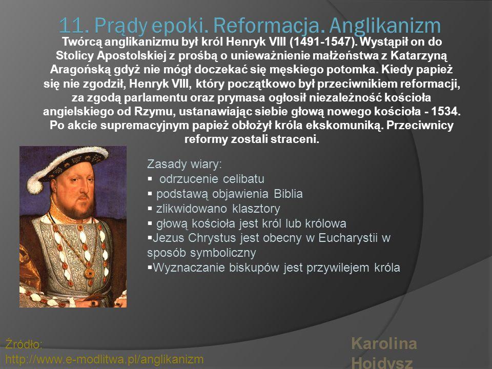 Pr ą dy epoki. Reformacja – Jan Kalwin. nr.